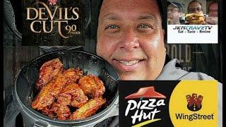 Pizza Hut's Jim Beam® Devil's Cut™ Spicy Bourbon BBQ Chicken Wings Review w/JKMCraveTV!