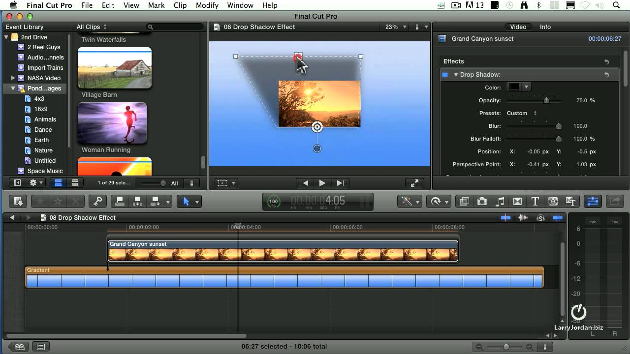 how to make music fade in final cut pro