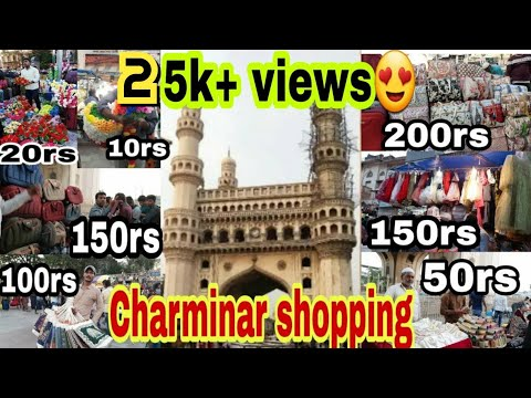 Shopping At Charminar|Hyderabad street shopping|Laad bazaar