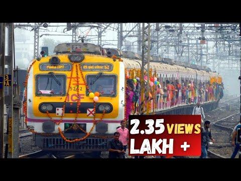 Central Railway Mumbai's 1st Run of Bombardier EMU Local train | 110 KMPH Stainless Steel EMU
