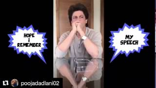 Shahrukh Khan Practicing For Ted Talk Speech | Thoughts on humanity, fame and love |  Shah Rukh Khan