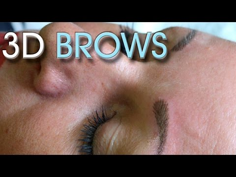 HD Eyebrows – Natural – 3D permanent makeup tutorial – Before & after