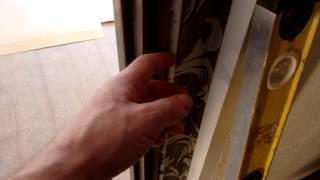 Установка  дверей, выставление дверной коробки в проёме(Как выставлять дверной короб в проёме., 2014-10-30T22:50:28.000Z)