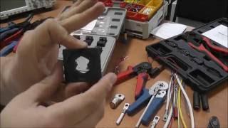 Обжим/опрессовка проводов различными наконечниками и электромонтажным инструментом. Большой обзор.