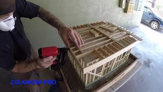 mini House Flat Roof Framing by Co-Know-Pro (YouTube)