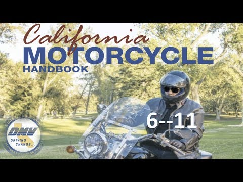 "DMV Motorcycle License Handbook """"""(AUDIO)""""""........6--11"