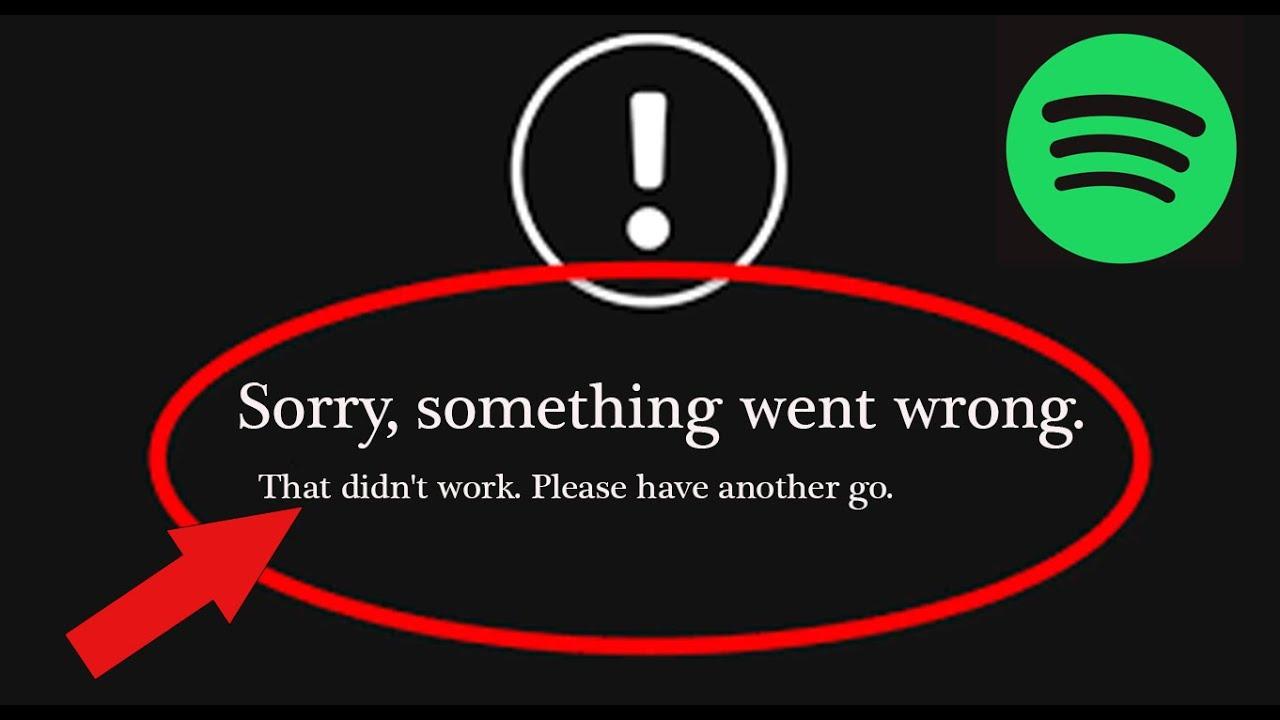 Wrong something went went error