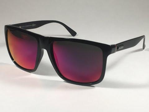 143c5edcae9 New Authentic Gucci GG1075 S GVBMI Shield Square Sunglasses Black Aluminum  Purple Orange Mirror Lens