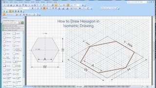 How To Draw Hexagon In Isometric Drawing