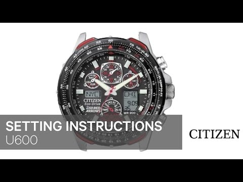 official citizen u600 setting instruction youtube rh youtube com Citizen Skyhawk User Manual Blue Angel Citizen Eco-Drive Instruction Manual