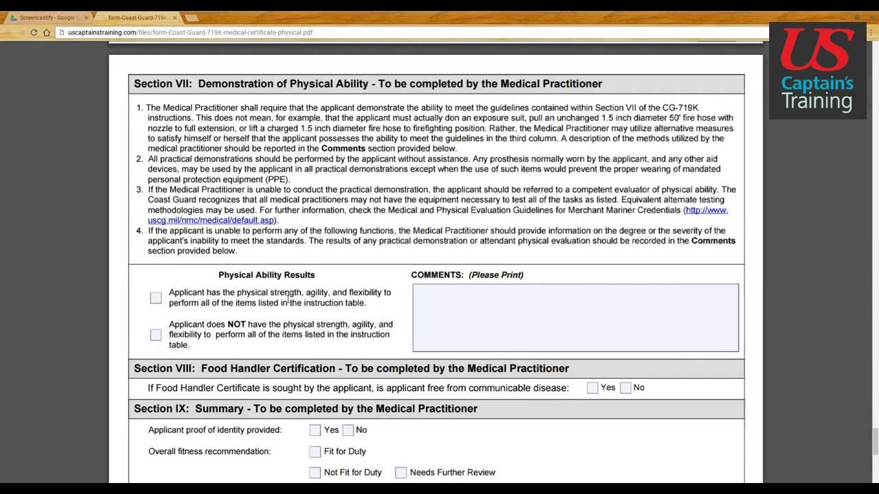 Captains license medical certificate form section iv x youtube captains license medical certificate form section iv x falaconquin