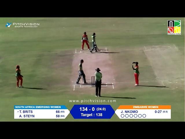 Zimbabwe Women vs South Africa Emerging Women | 4th One Day
