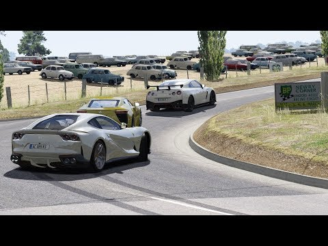 Ferrari 812 Superfast on Country Side Roads / Assetto Corsa