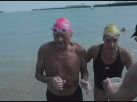 Oldest man to swim the English Channel