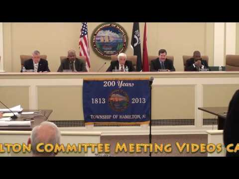 December 19, 2016 - Township of Hamilton Committee Meeting