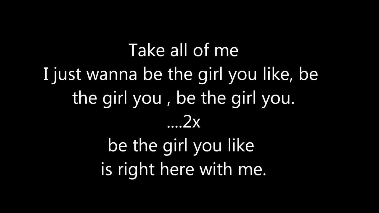 i just wanna be the girl you like