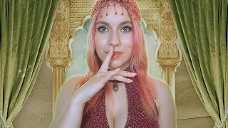ASMR Ear CLEANING & Massage by a SERVING GIRL, tingles to HELP You SLEEP peacefully - Strong Accent