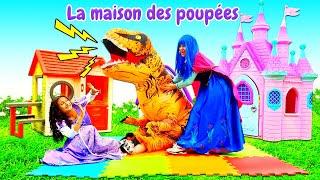 Vidéo en français. Les princesses et le dinosaure. La maison pour la princesse.