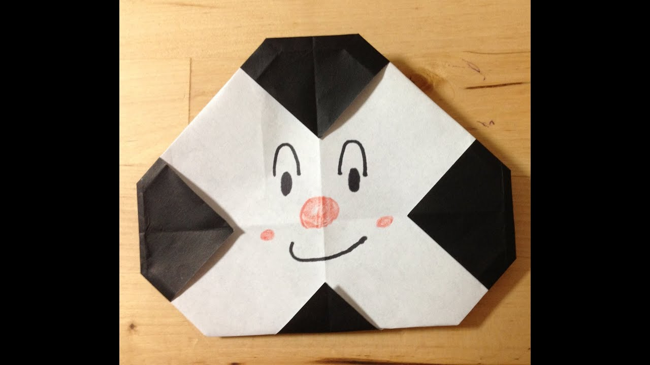 すべての折り紙 折り紙折り方キャラクターアンパンマン : 折り紙 おむすびまん 折り方 ...
