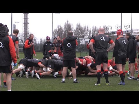 England Rugby Team Train With Georgian Team