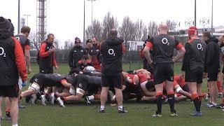 England Rugby Team Train With Georgian Team At Latymer Upper School