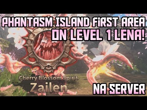 How To Start Level'ing! Completing First Phantasm Island Area on LVL 1 Lena | HIT