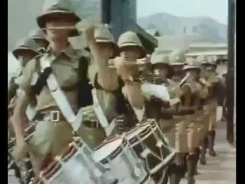 British Raj troops march out from Peshawar to Tokot, Northwest Frontier