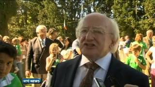 President Higgins vists the Irish Community in Argentina
