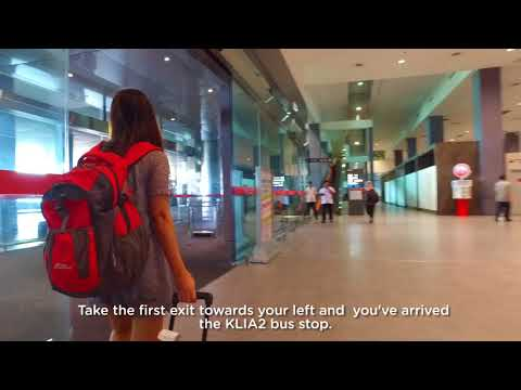 Getting to AirAsia RedQ on foot (klia2 train station)