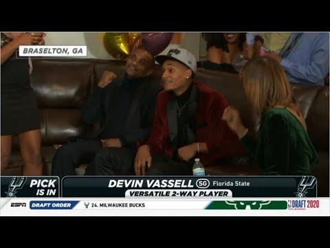 Download San Antonio Spurs pick No 11 Devin Vassell NBA Draft 2020