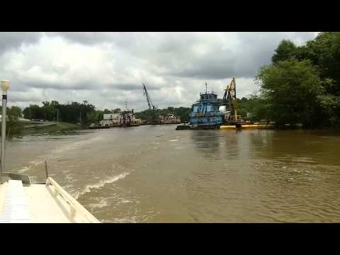 The Dredge Borinquen on Ouachita River during flooding at Camden Arkansas May 20, 2015