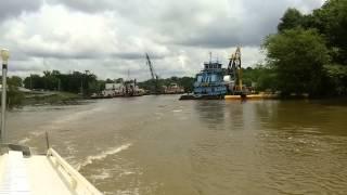 The Dredge Borinquen on Ouachita River during flooding at Camden Arkansas May 20, 2015
