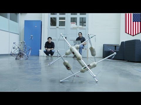 Shape-shifting robots designed for space exploration, can roll around on the moon - TomoNews
