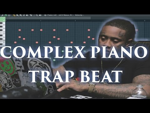 Complex Piano Trap Beat tutorial ( 808 Mafia x Southside type beat )