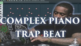 complex piano trap beat tutorial 808 mafia x southside type beat