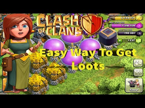 Easy Way To Get Loots Gold and elixir In Clash Of Clans My Best Loot Strategy | Tamil Gamers