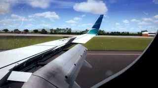 [FSX] PMDG 737-800, Garuda Indonesia, Bali ILS Smooth Landing (Window View)