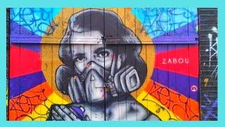 LONDON, the beautiful wall murals of Brick Lane