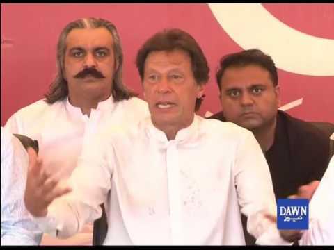 Imran Khan talk to media in Islamabad