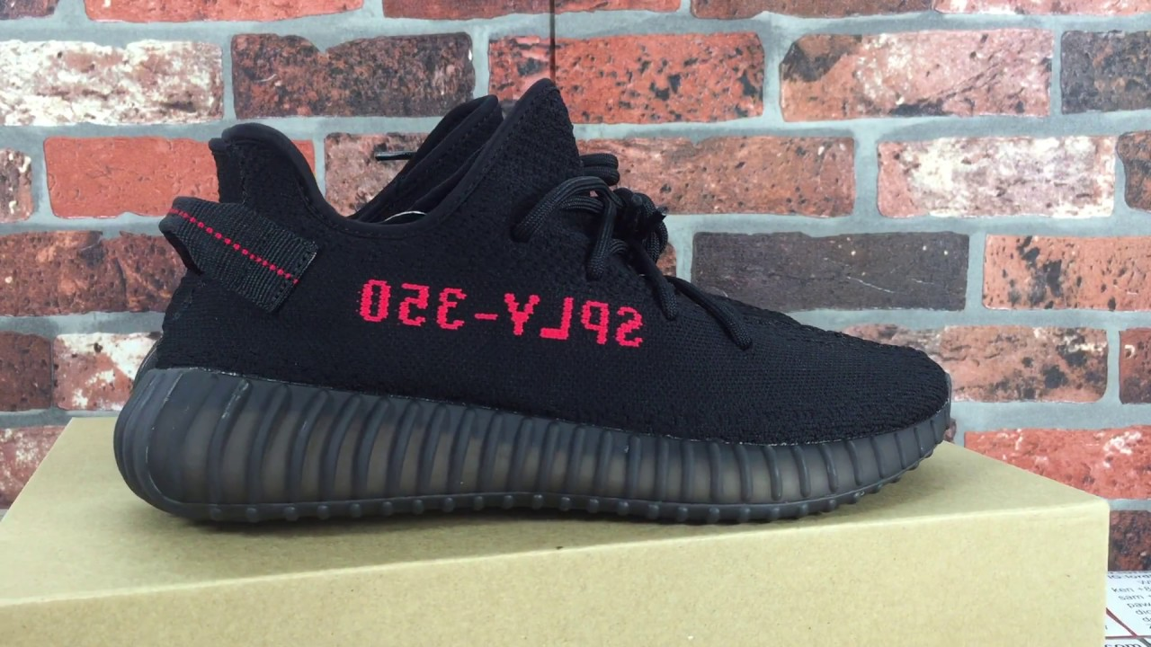 """UA YEEZY Boost 350 V2 """"Core Black Red"""" Bred Black Red SPLY-350 Review   On  Feet a3e7d283a"""