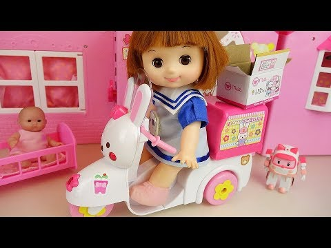 Ba doll bike dery car toys ba Doli house play
