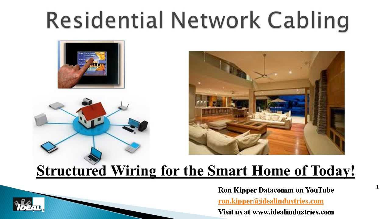 Residential Structured Wiring Systems Part 1 Why And How To Wire A System Basics Home Youtube