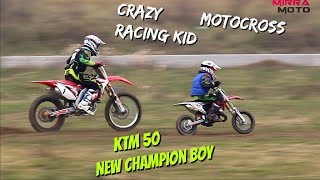 Crazy Motocross Kid -New champion-Liviu Jigmond Junior || Training KTM 50sx