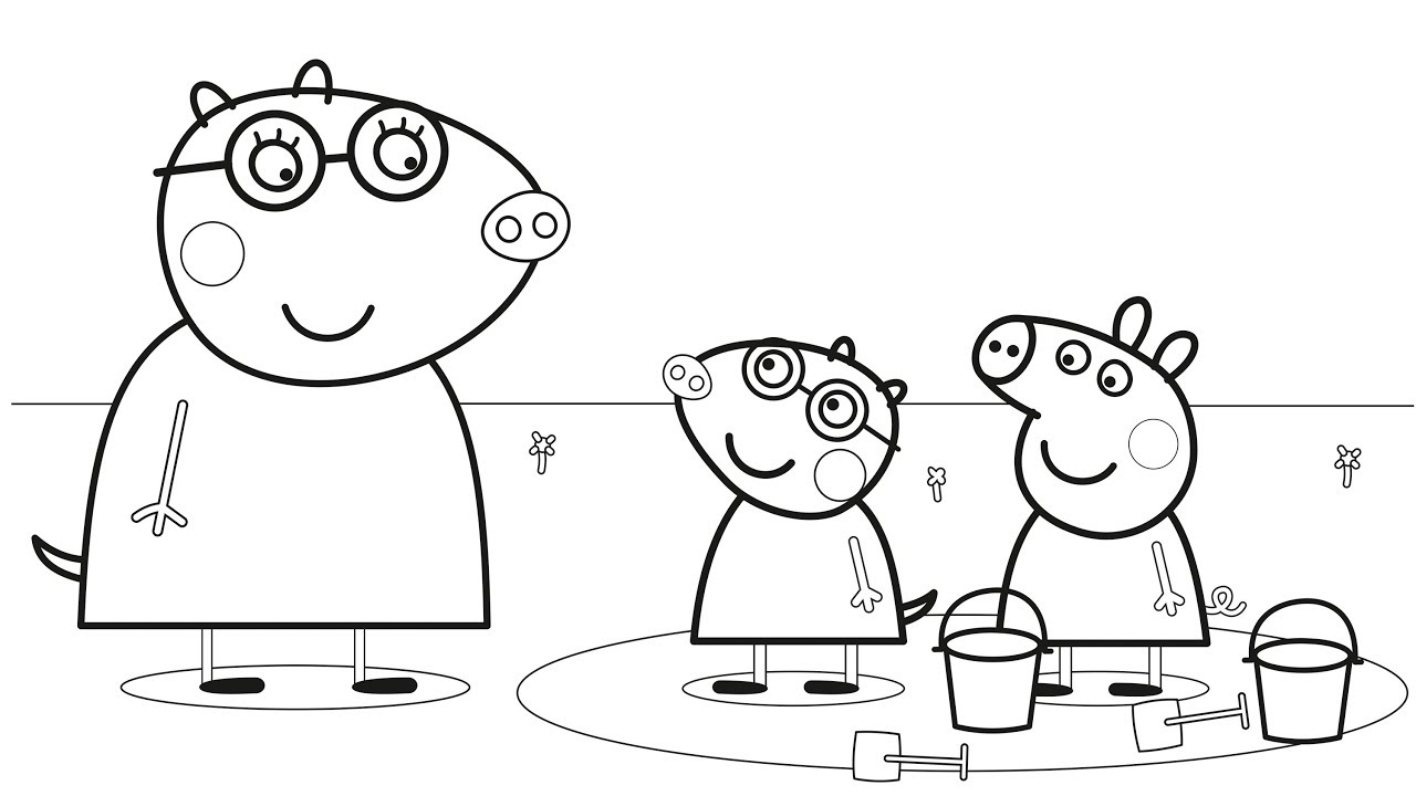 peppa pig molly mole coloring book learning colours