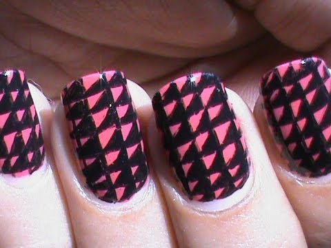 Black And Red Nail Art Designs Youtube