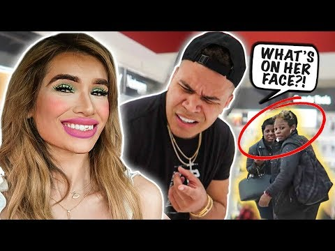 I DID MY MAKEUP HORRIBLY & WENT IN PUBLIC PRANK! *HILARIOUS REACTIONS* thumbnail