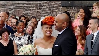 Eva Simons en Sidney Samson getrouwd in de Westerkerk.