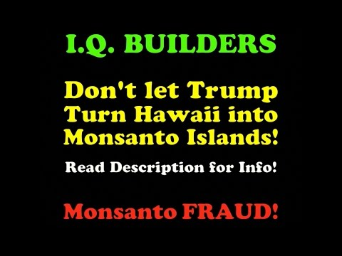I.Q. BUILDERS: Monsanto GMO FRAUD in Hawaii ! ! ! (summary)