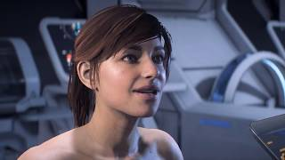 Naked Sara Ryder Wakes Up - Mass Effect Andromeda Intro (with Nude Mod)