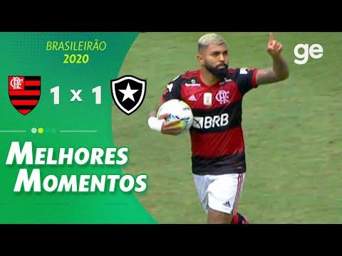 FLAMENGO 1 X 1 BOTAFOGO | MELHORES MOMENTOS | 5ª RODADA BRASILEIRÃO 2020 | ge.globo